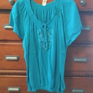 Faded Glory Peasant Blouse